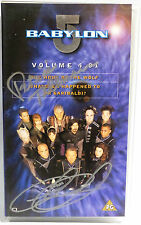 BABYLON 5 : VOLUME 4.01 VIDEO TAPE SIGNED BY CLAUDIA CHRISTIAN & PAT TALLMAN