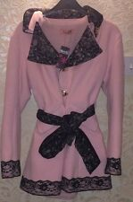 MA*RS Sugar Gloss Baby Pink X Black Fleece Lined Winter Coat - Gyaru, Japan BNWT