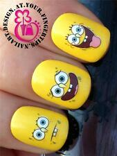 *NEW* NAIL ART WATER TRANSFERS/STICKERS/DECALS SPONGEBOB SET 2 FUNNY FACES #189