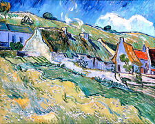VAN GOGH Cottages canvas print giclee 8X12 reproduction of painting poster