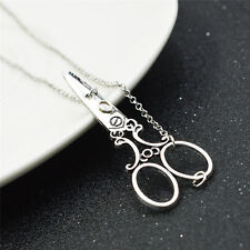 New Fashion Tibetan Silver Pendant scissor comb Necklace Choker Charm Jewlery