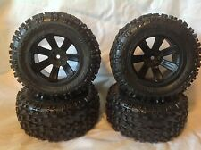 "1/10 RC Proline Badlands 2.8"" Rock Crawler Tires Black Wheels 12mm hub"