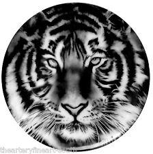 """ROBERT LONGO 'Study for Tiger Head 2' Collector's Plate 8.25"""" Limoges France NEW"""