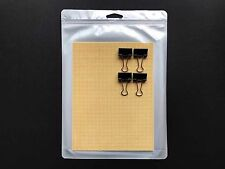 6″x8″ Cell / PerfBoard for 3D Printing / Printer w/ 4 Binder Clips