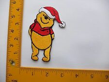 EMBROIDERED  Christmas Xmas Holiday Winnie the pooh #209 Iron On / Sew On Patch