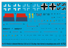 1/72 Decals für die  Me 262 A 1 Oblt. Walter Schuck 2119