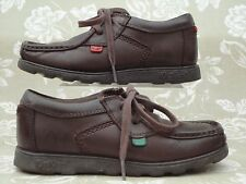 KICKERS Brown Leather Casual Shoes EU 33 UK 1 Junior - FREE P&P SAMEDAY DESPATCH