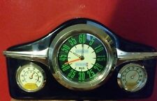 Old-fashioned Car Dashboard mantel Clock w Hygrometer & Thermometer by Wellgain