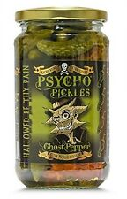 Dr Burnorium Psycho Pickles 450g Gherkins & Ghost Chilli Peppers Naga Jolokia