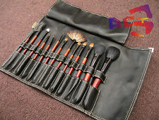 13pcs High Quality Redwood Handle.- Goat, Pony, Squirrel Hair Cosmetic Brush Set