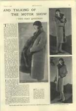 1928 Important Coat Question At The Motor Show, Designs Fashions