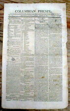 1810 Providence ROHDE ISLAND newspaper w GUNSMITH AD for Rifles MUSKETS Pistols