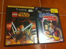 Gamecube games Lego Star Wars & Magical Mirror Starring Mickey Mouse GC L@@K