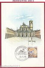 ITALIA MAXIMUM MAXI CARD VIGEVANO PAVIA PIAZZA DUCALE 1983 ANNULLO C317