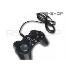 2 X USB Wired PC/MAC Gaming Joypad Controllers PS Style 8 way D Pad - Black
