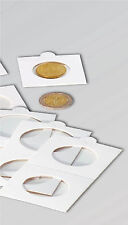 100 ADHESIVE COIN HOLDERS, ASSORTED SIZES 17.5mm to39.5mm