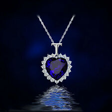 New Fashion Heart Of The Ocean Rhinestone Blue Crystal Pendant Necklace Jewelry