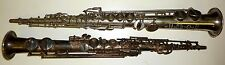 2 Vintage Soprano saxophone Henri Selmer Model 22  Paris France John Grey
