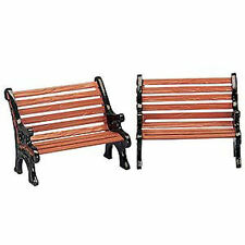 Lemax Decoration Park Bench Set of 2, Christmas Birthday Cake Decorating Figure