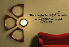 This is the Day The Lord Has Made Psalms Bible Wall Decal Scripture Quote