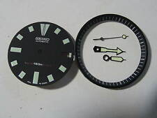 SEIKO DIVER 7002 BLACK Dial Hands Minute Marker Ring SET NEW