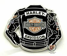 HARLEY DAVIDSON LEATHER JACKET PIN WITH REAL MOVING CHAIN VEST PIN MOTORCYCLE