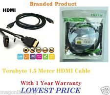 Terabyte 1.5M Gold HDMI v1.4 Male to Male Cable 3D LED Plasma LCD Full HD Copper