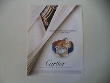 advertising Pubblicità 1992 CARTIER MONTRE DIABOLO LOUIS CARTIER