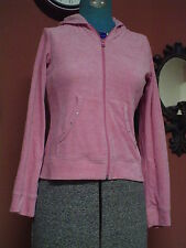 Girl's -Junior's Energie Size L Pink Zip Up Embellished Hoodie EUC