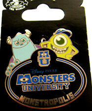 Disney Cast Exclusive Monsters University Name Tag Sully and Mike Pin