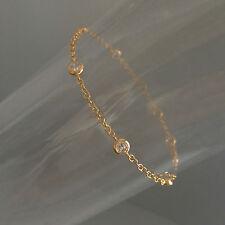 Bracelet Chaîne Plaqué Or Multi Zirconiums Sertis clos