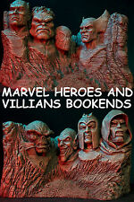 MARVEL VILLAINS & HEROES BOOKENDS STATUE CAPTAIN America WOLVERINE HULK Dr DOOM