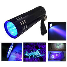 Mini Aluminum UV Ultra Violet 9 LED Flashlight Blacklight Torch Light Lamp Sales