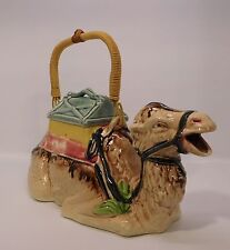 Camel Teapot or Pitcher with Handle Luggage Lid and Blanket Vintage