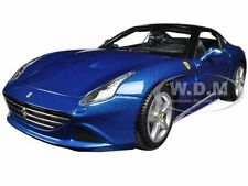 FERRARI CALIFORNIA T (CLOSED TOP) BLUE 1:18 DIECAST MODEL CAR BY BBURAGO 16003