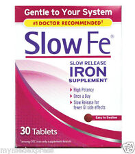 Slow Fe Slow Release Iron Tablets 30ct 886790019305