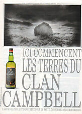 Publicité Advertising 1993  WHISKY CLAN CAMPBELL