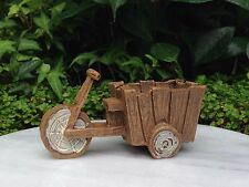 Miniature Dollhouse FAIRY GARDEN ~ Resin Wood Look Bicycle Cart ~ NEW