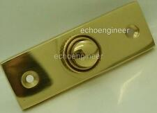 POLISHED BRASS VICTORIAN STYLE BELL PUSH for Battery & 240v  Transformer Systems