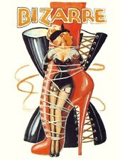 VINTAGE 1940'S BIZARRE FETISH  MAGAZINE COVER ART A3 POSTER RE PRINT