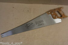 "New Vintage Baier Masterpiece 26"" 7 Points Per Inch Hand Panel Saw German Made"