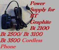 BT Graphite 2100/2500/310/3500 Cordless Phone Replacement Power Supply Adaptor