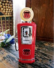 BRAND NEW ROUTE 66 ALARM ANALOGUE CLOCK RADIO 50S STYLE PETROL PUMP