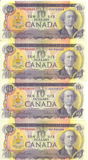 Bank of Canada 1971 $10 Ten Dollars Lot of 4 Notes Beattie- Rasminsky Average EF