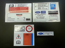 FORD RS TURBO UNDER BONNET DECAL / STICKER SET