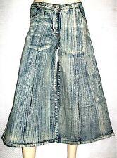 Jupe culotte en jean's ANITA.H.Jeans,style pantacourt évasé,Taille 34/36 Neuve+