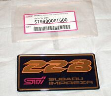 Subaru Impreza STi 22B Rear Trunk Badge / Sticker / Emblem JDM
