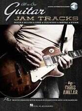All In One Guitar Jam Tracks Play Rock Blues Jazz Country Funk Metal Music Book