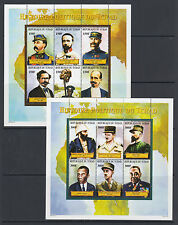 Chad Sc 868-869 MNH. 2000 Political History of Chad, cplt set of 2 sheets, VF.