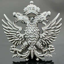 Men Western Silver Russian Imperial Double Eagle Crown Cowboy Belt Buckle Gift